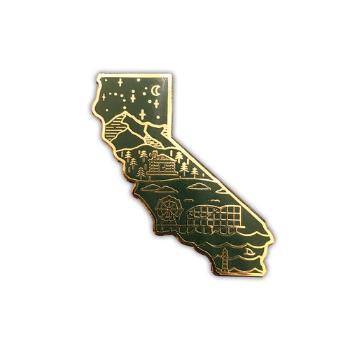 Hunter Green Golden State Pin