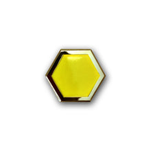 Golden Honeycomb Pin