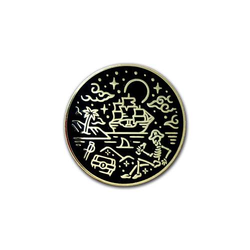 A Pirate's Life For Me Pin * Gold Treasure Variant *