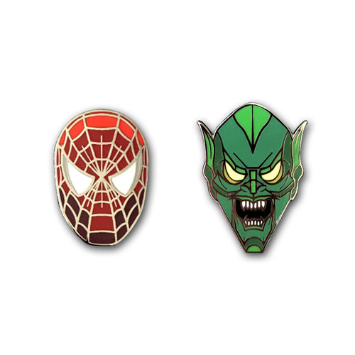 Spidey and Goblin Pins