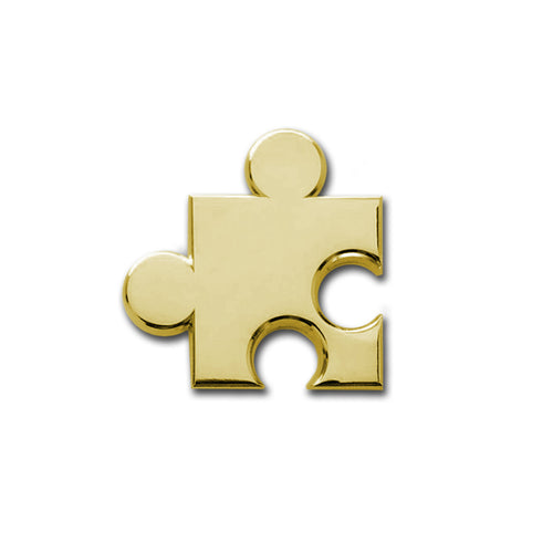 Golden Puzzle Piece Pin