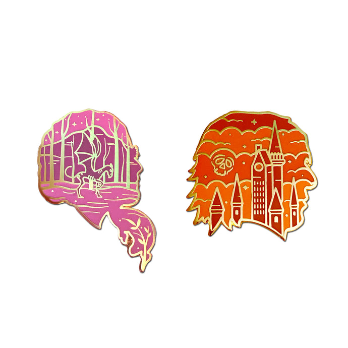 Phoenix and Prince Pin Set