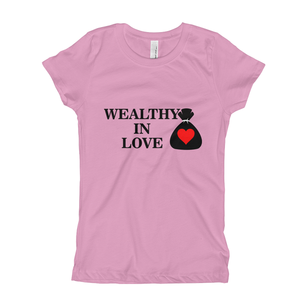 Mental-Hop Wealthy In Love Girl's T-Shirt