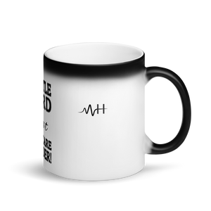 MH Hustle Hard Matte Black Magic Mug