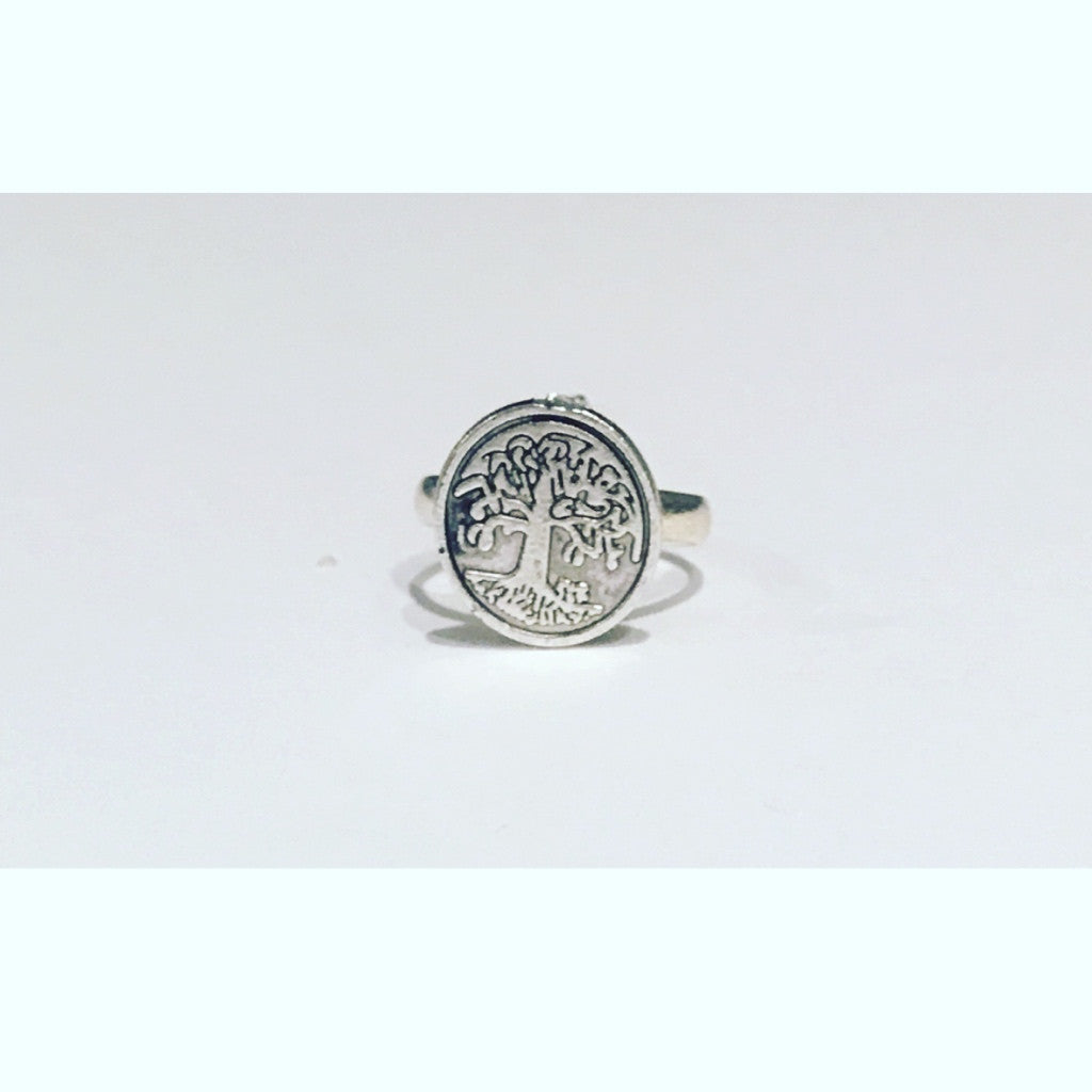 Tree of Life Ring. Adjustable Band