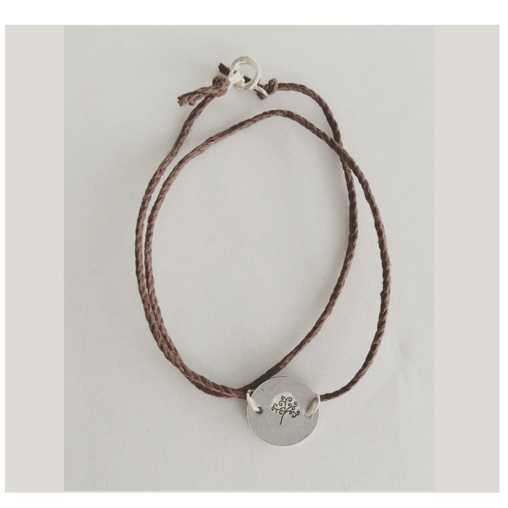 Handmade Brown Rope Wrap Bracelet With Charm