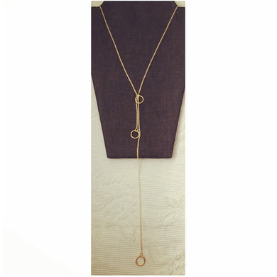 Adjustable Dangle Necklace. Elegant and Trendy.  Available in Gold and Silver.