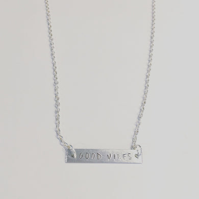 Silver Engraved Necklace (Custom Orders Via Email)