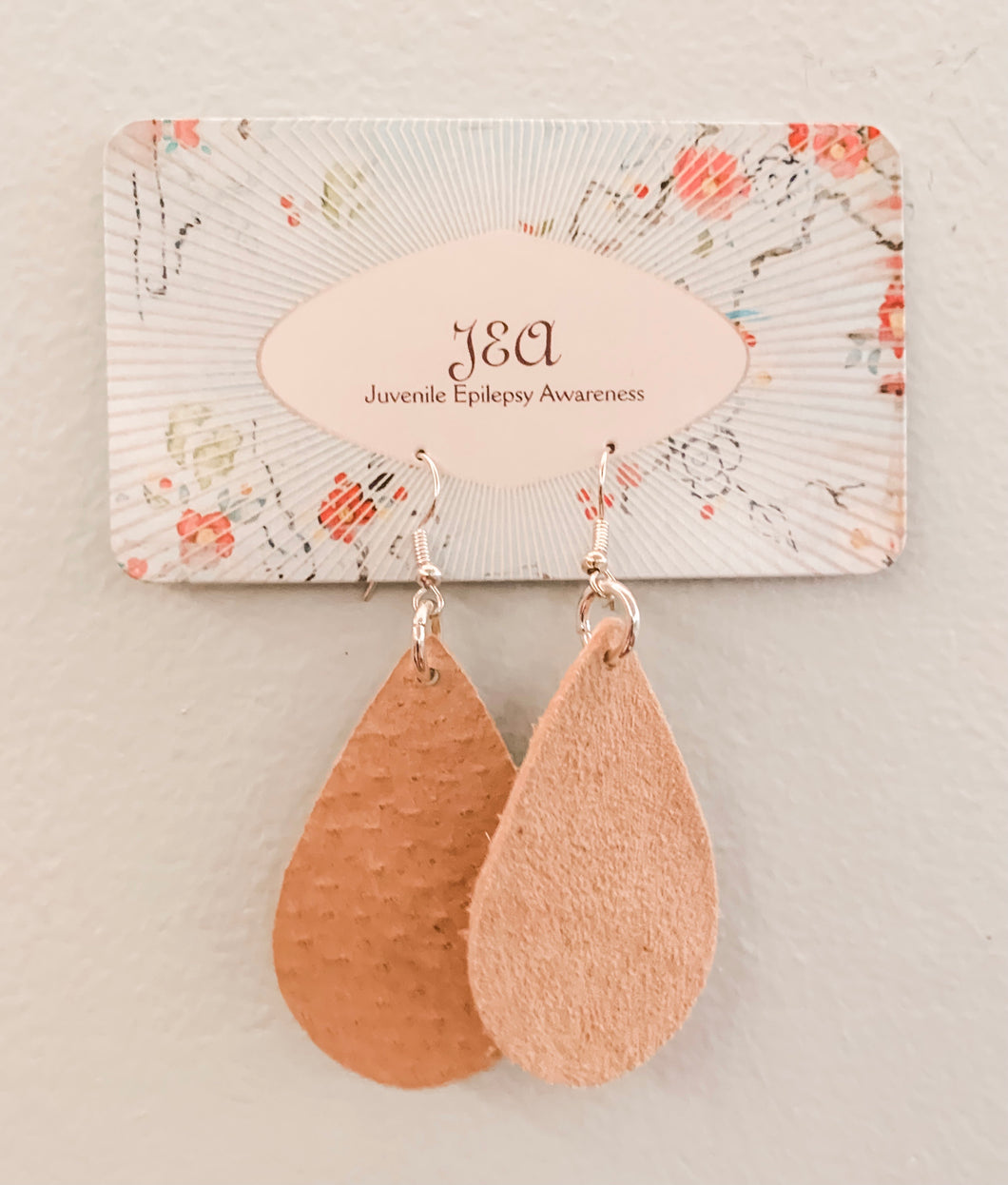 Beautiful Suede earrings with intricate designs