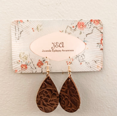 Beautiful Leather earrings with intricate designs