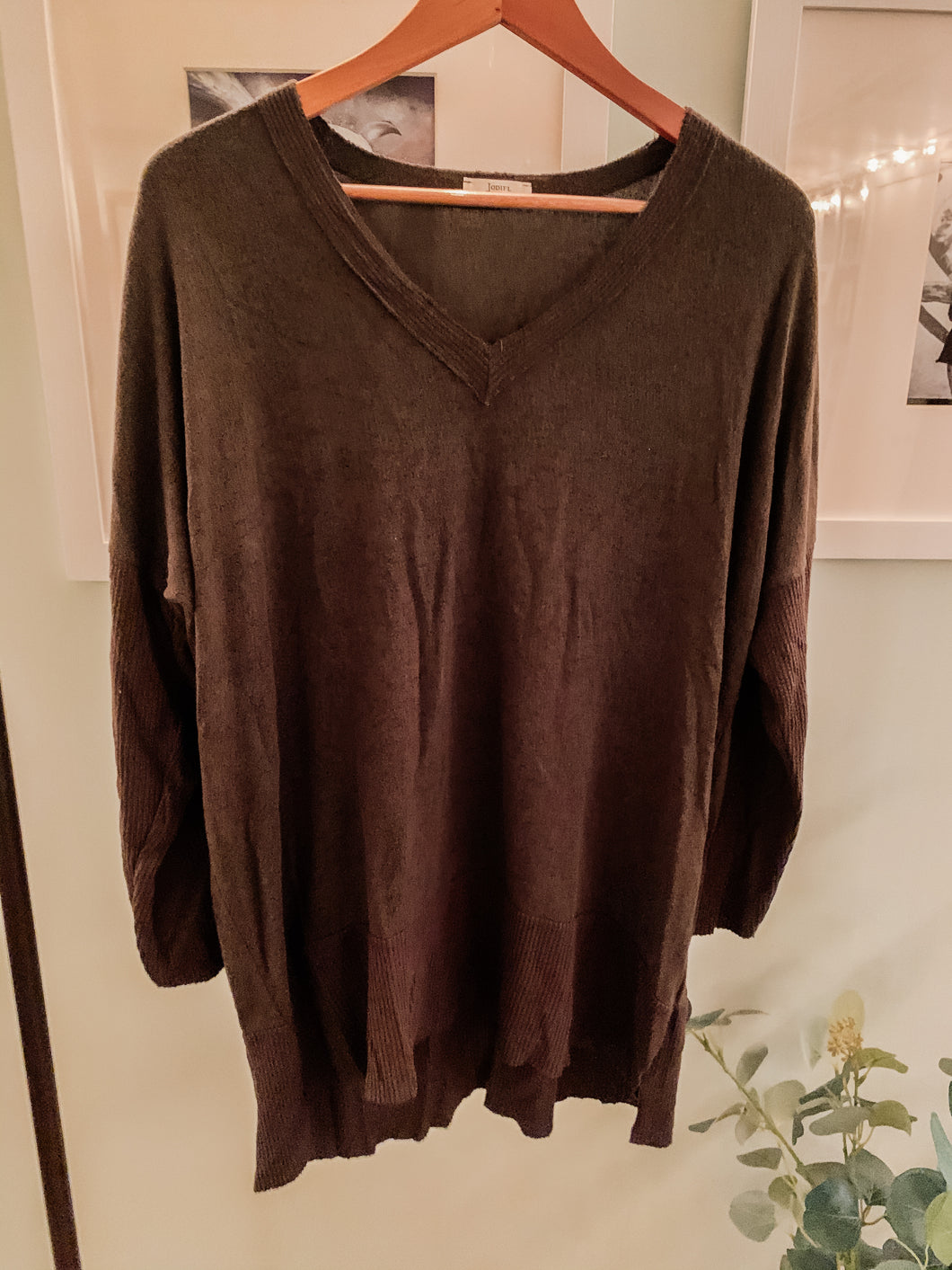 Hunter Green Oversized Sweater Boutique Brand