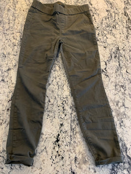 Hunter Green cropped fitted pants