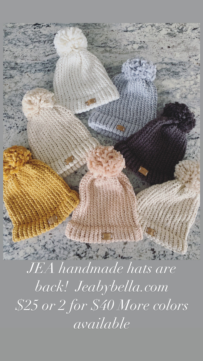 Hand Knit Winter Hats 7 colors in drop down menu