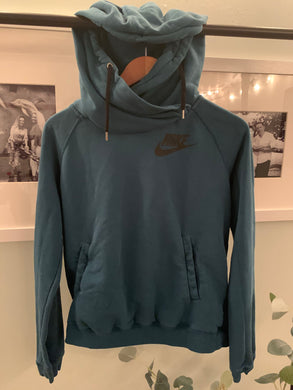 NIKE hoodie dark teal colored great condition