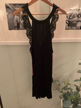 Open back homecoming dress black