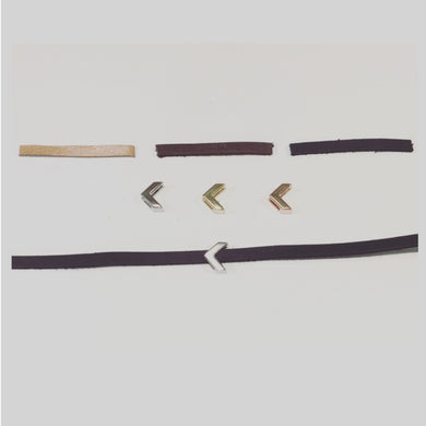 Leather Strap Choker With Decorative Sliding Charm.