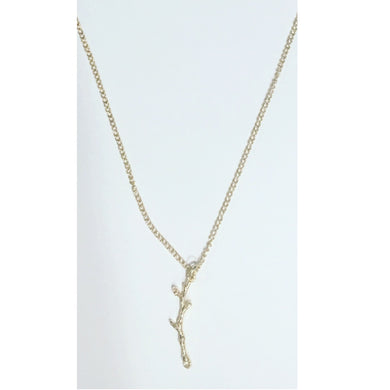 Vertical Gold Branch Necklace.
