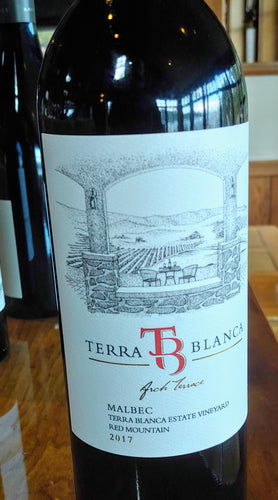 Terra Blanca Estate Red Mountain 2017 Malbec, Bottle