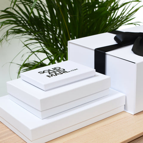 Branded Solid And Marl gift boxes
