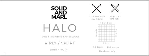 solid and marl halo yarn technical information