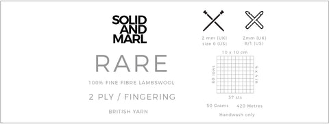 rare yarn solid and marl technical information