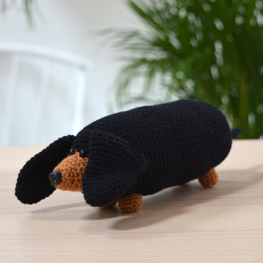 Sausage Dog Crochet Kit Solid And Marl Solid And Marl