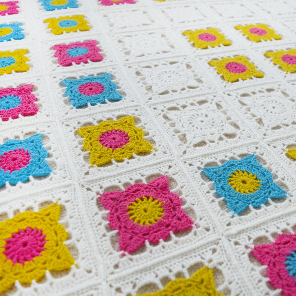 Bright Granny Square Blanket Pattern