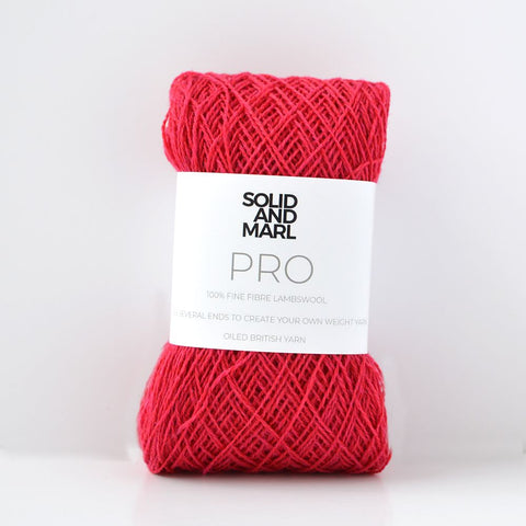 warm red crochet yarn lambswool