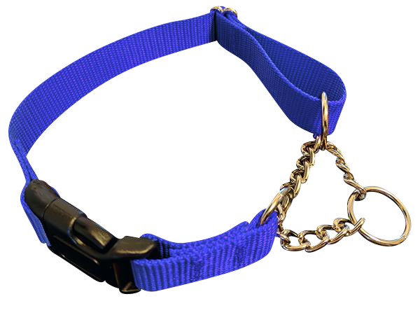 Half Chain with QUICK RELEASE Martingale Collars - Choose Color & Size - 10 PACKS - Canis Gear
