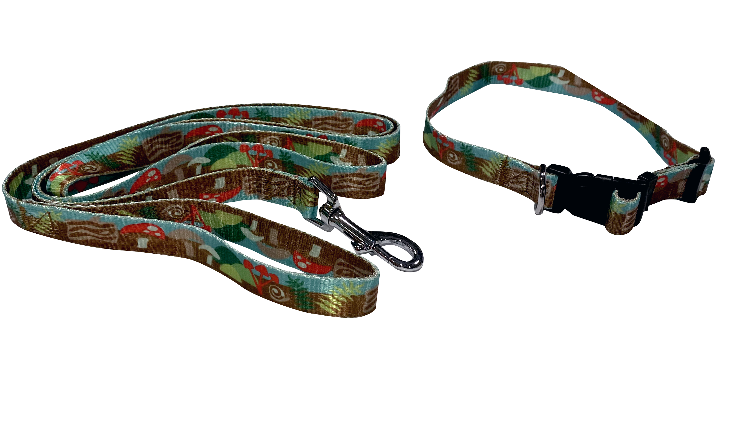 20 Pack Pattern Webbing REGULAR ADJUSTABLE Medium - 10 Matching Collars & Leashes 6'