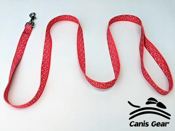 "Red Hibiscus LARGE Leash 1""x6 10 PACK - Canis Gear"