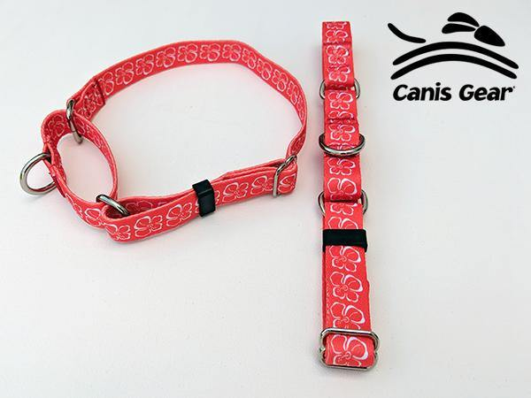 "Red Hibiscus LARGE Martingale 1"" 10 PACK"