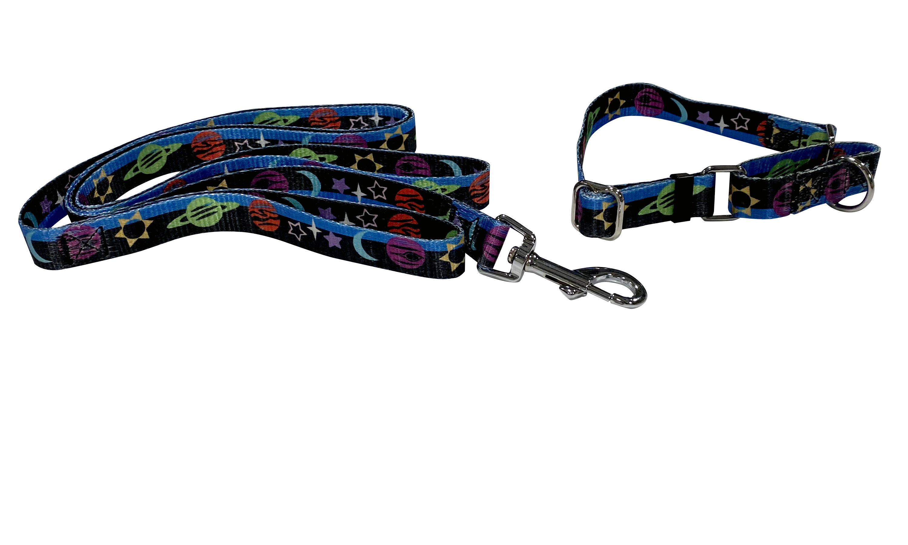 20 Pack Pattern Webbing MARTINGALE Medium - 10 Matching Collars & Leashes 6' - Canis Gear