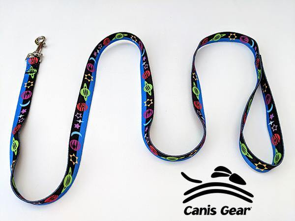 "Colorful Space LARGE Leash 1""x6 10 PACK"