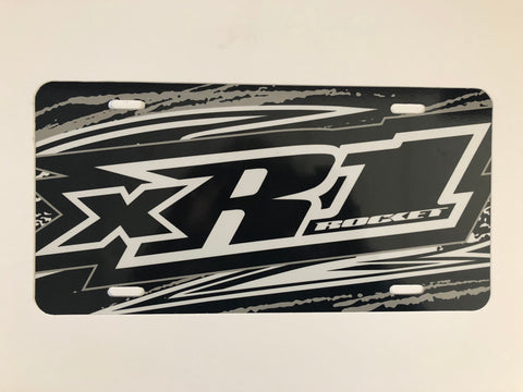 Black XR1 License Plate