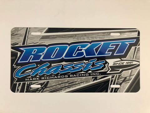Blue Rocket Chassis License Plate