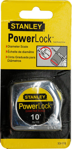 Stanley 10-Foot-by-1/4-Inch PowerLock Pocket Tape Rule