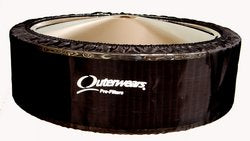 "Outerwears Pre-Filter No Top 14"" x 4"" (Black)"