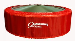 "Outerwears Pre-Filter No Top 14"" x 4"", (Red)"