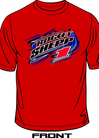 "Brandon Sheppard ""2018 Rocket Shepp"" Tee, Red"