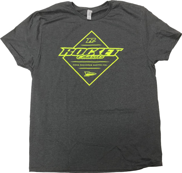 Rocket Chassis Diamond Tee - Dark Gray Heathered