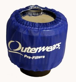 Outerwears Crankcase Breather, Shielded (blue)