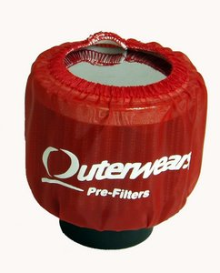 Outerwears Crankcase Breather, Shielded (red)