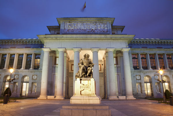 Evening shot of the Museo Nacional Del Prado in Madrid, Spain. Source: Adobe Stock Photo