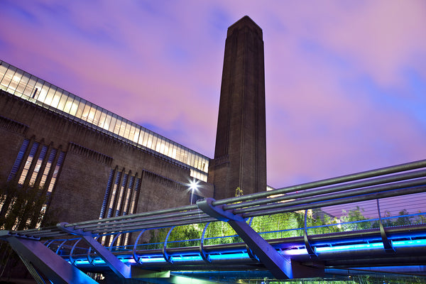 The Tate Modern museum in London, England at dusk. Credit: Adobe Stock Photo