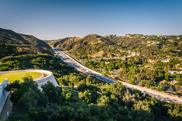 Bird's eye view of the Getty Center in Los Angeles, California. Credit: Adobe Stock Photo