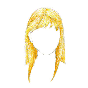 How to Draw Hair with Bangs - Step 7