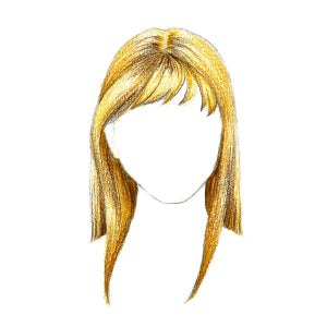 How to Draw Hair with Bangs - Step 8