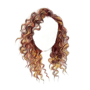 How to Draw Curly Hair - Step 12