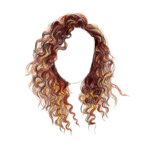 How to Draw Curly Hair - Step 13